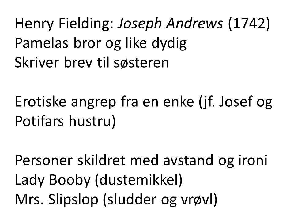 Henry Fielding: Joseph Andrews (1742)