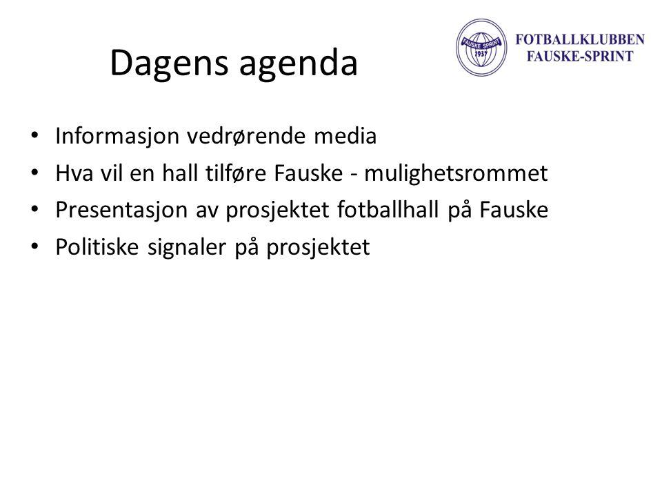 Dagens agenda Informasjon vedrørende media