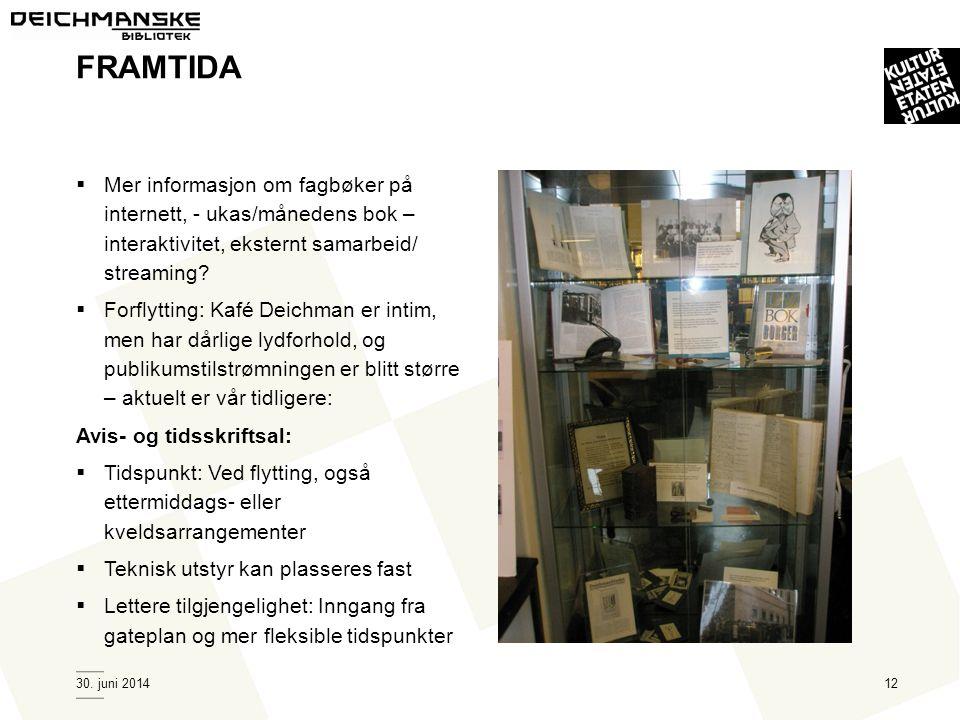 FRAMTIDA Mer informasjon om fagbøker på internett, - ukas/månedens bok – interaktivitet, eksternt samarbeid/ streaming