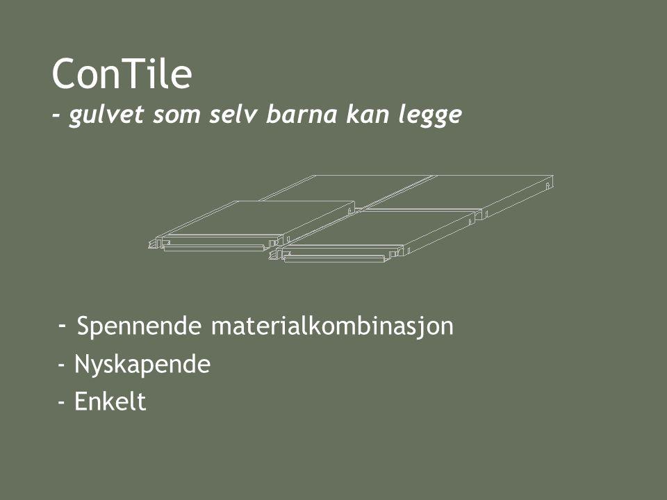 ConTile - gulvet som selv barna kan legge