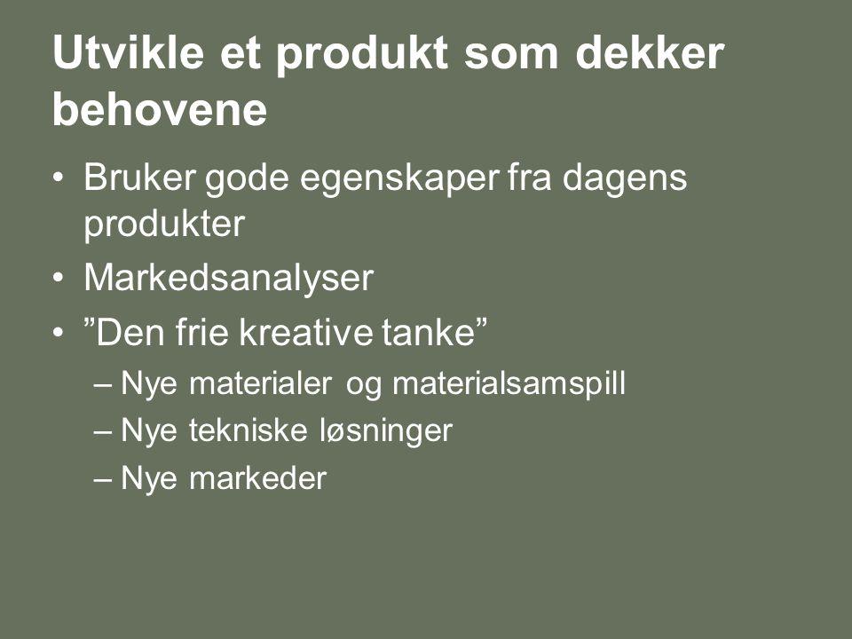 Utvikle et produkt som dekker behovene