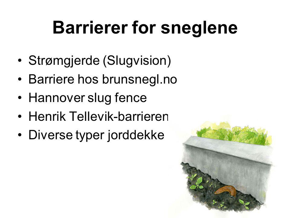 Barrierer for sneglene
