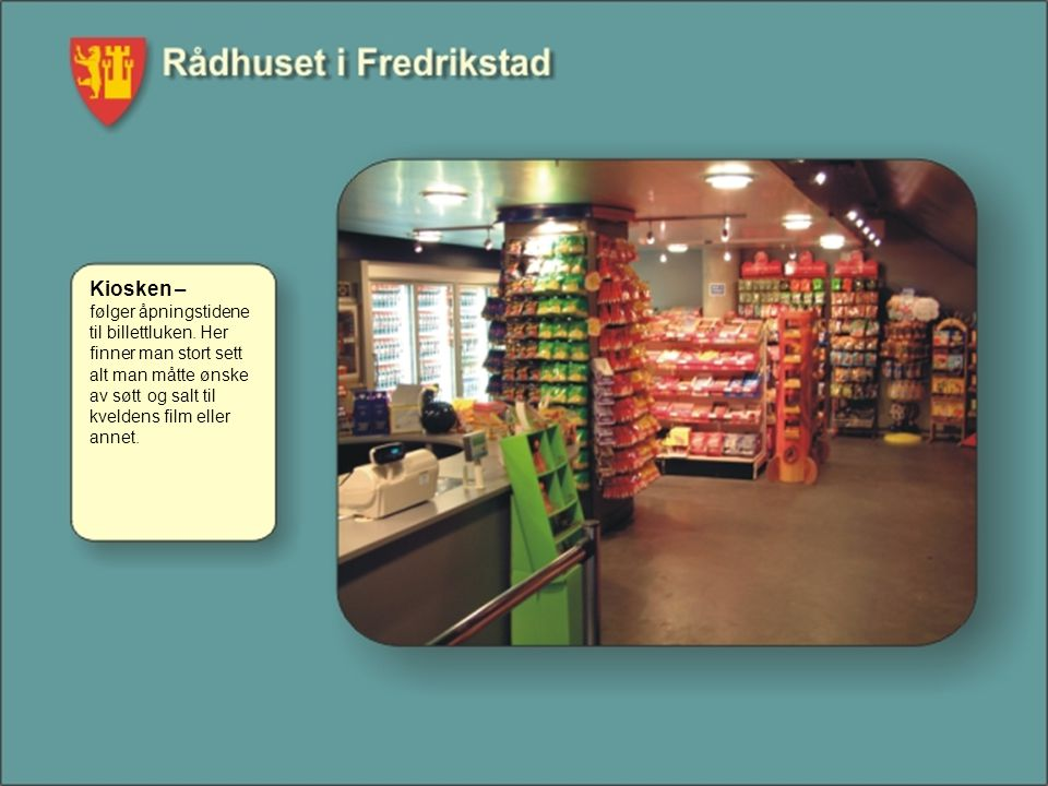 Kiosken – følger åpningstidene til billettluken