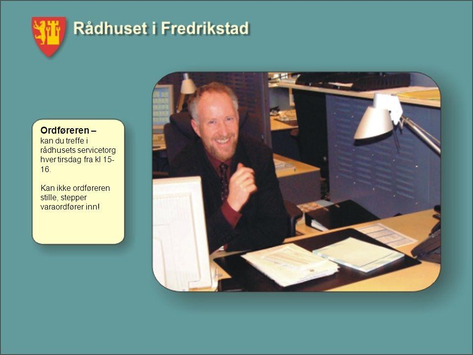 Ordføreren – kan du treffe i rådhusets servicetorg hver tirsdag fra kl 15-16.