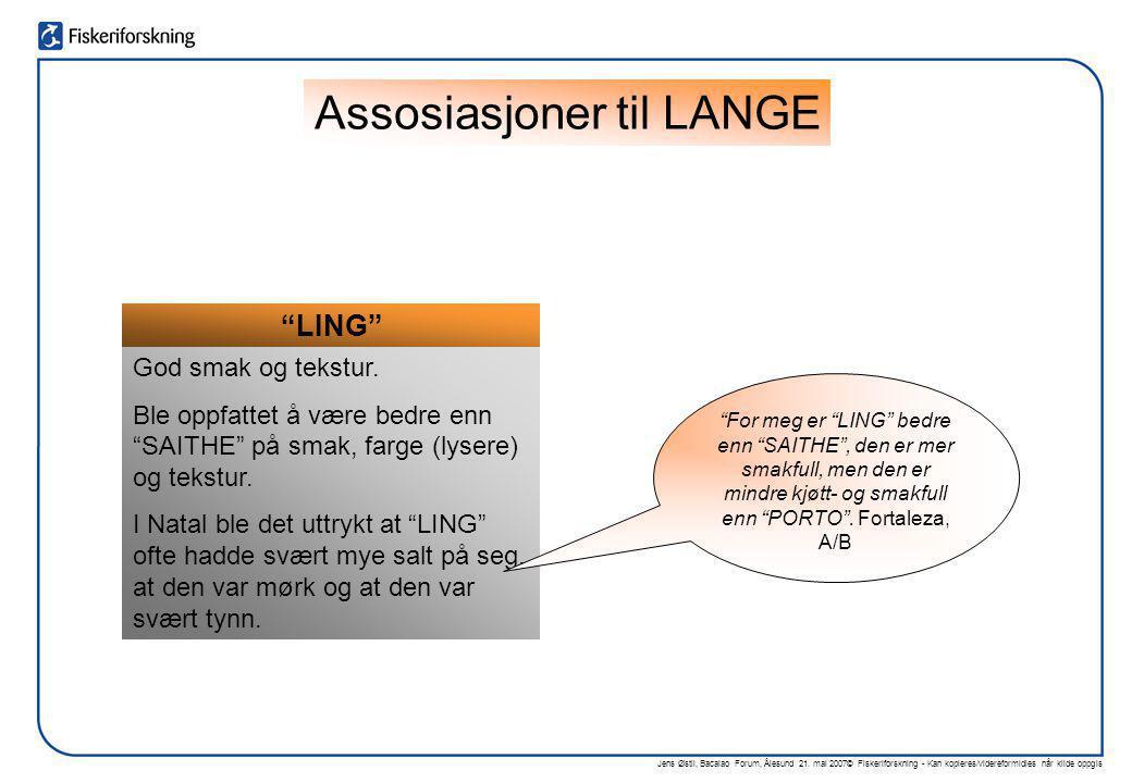 Assosiasjoner til LANGE