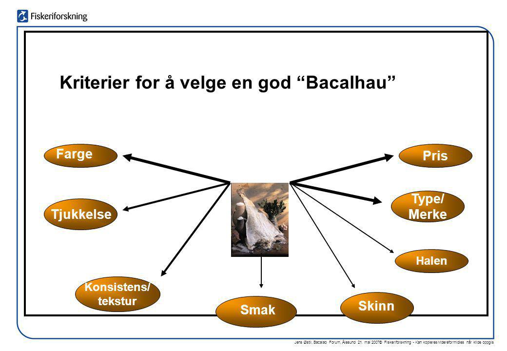 Kriterier for å velge en god Bacalhau