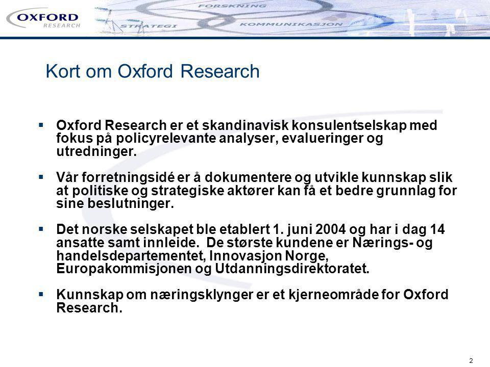 Kort om Oxford Research