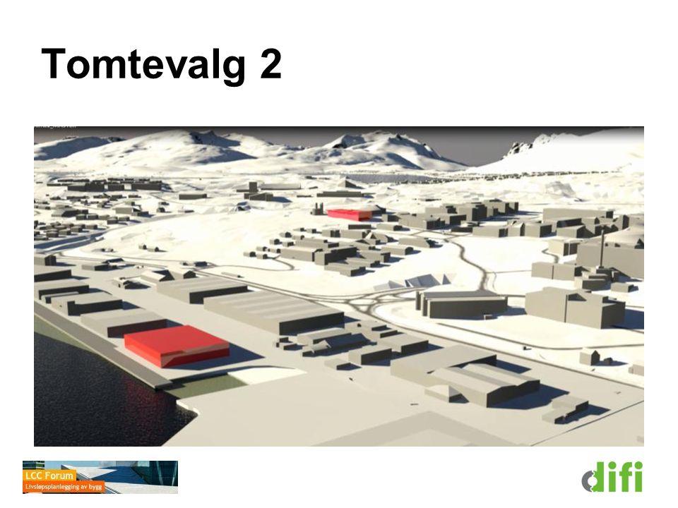 Tomtevalg 2 Det siste tenkte tomtevalget er plassert ved Universitetet i Nord-Norge. Universitetet kunne da knytte seg nærmere til Framsenteret.