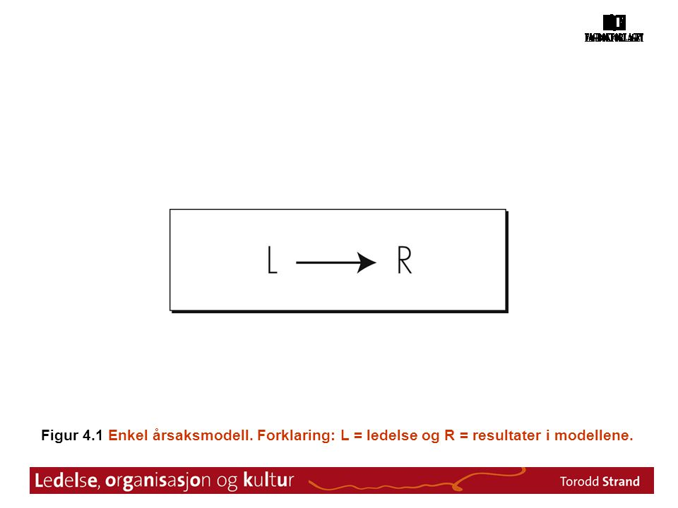 Figur 4. 1 Enkel årsaksmodell