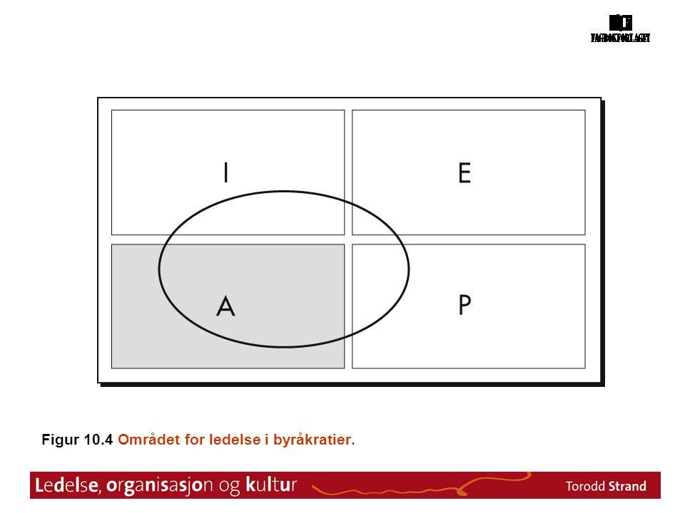 Figur 10.4 Området for ledelse i byråkratier.
