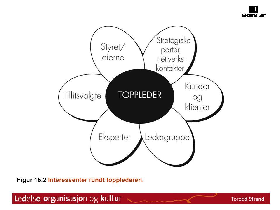 Figur 16.2 Interessenter rundt topplederen.