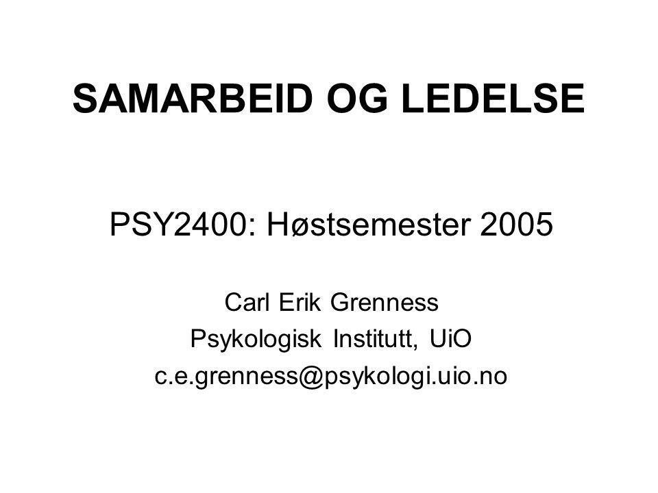Psykologisk Institutt, UiO