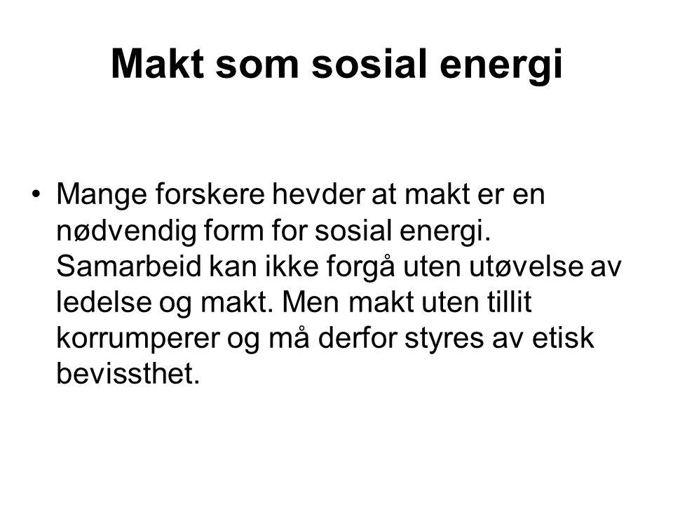 Makt som sosial energi