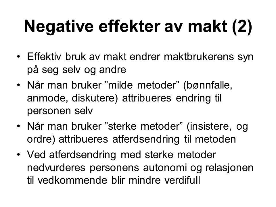Negative effekter av makt (2)