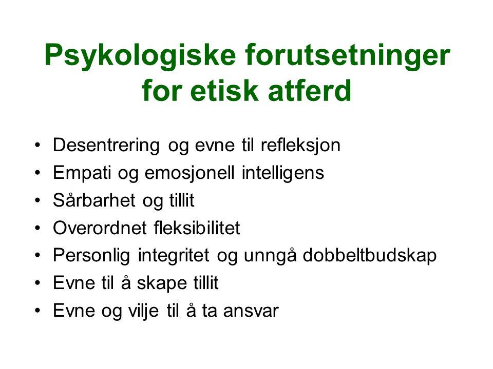 Psykologiske forutsetninger for etisk atferd