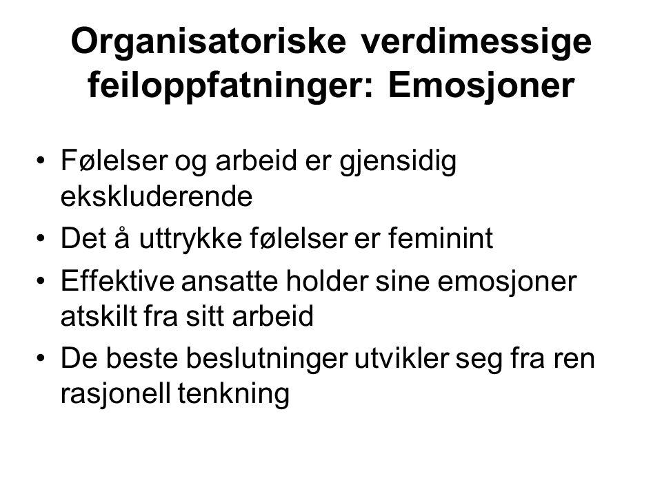 Organisatoriske verdimessige feiloppfatninger: Emosjoner