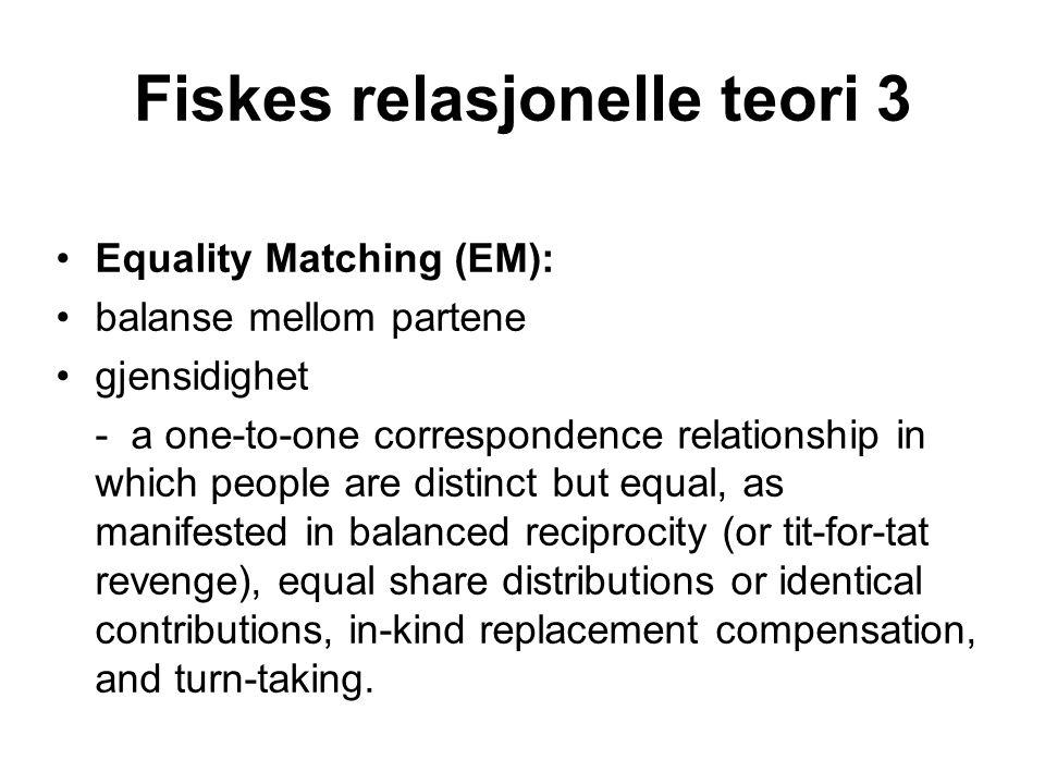 Fiskes relasjonelle teori 3