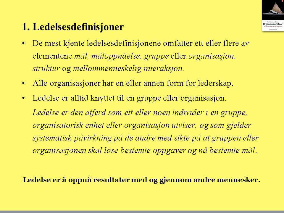 1. Ledelsesdefinisjoner