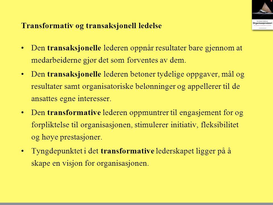Transformativ og transaksjonell ledelse