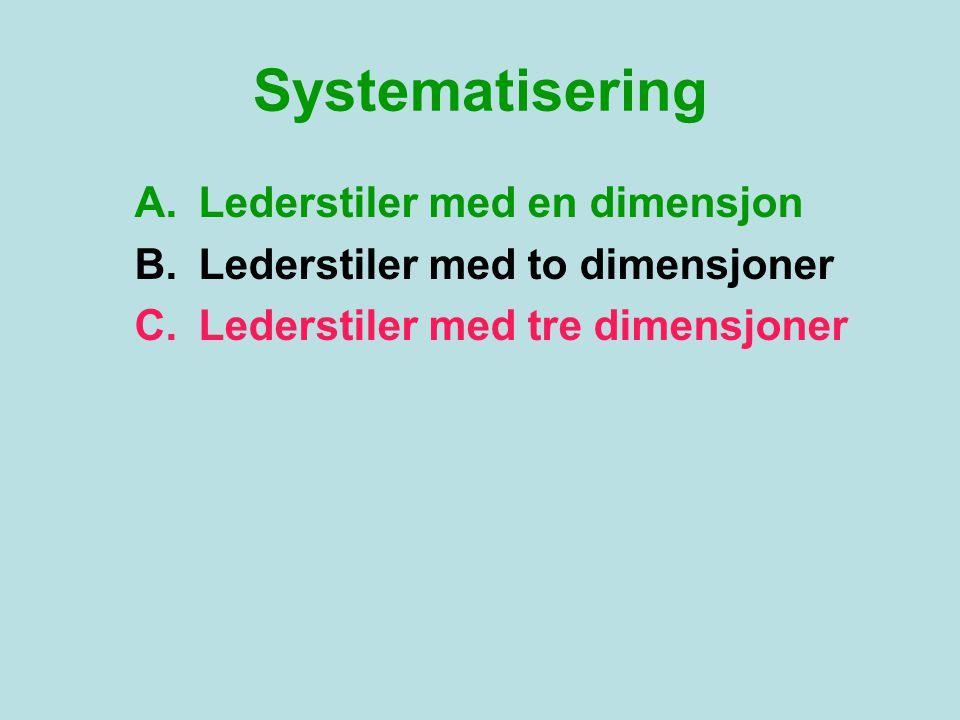 Systematisering Lederstiler med en dimensjon