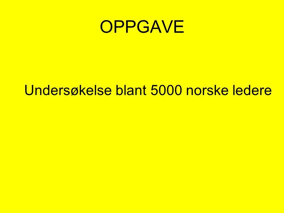 OPPGAVE Undersøkelse blant 5000 norske ledere