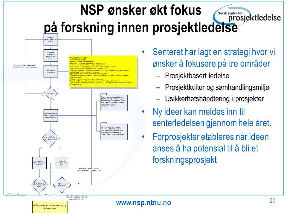 NSP ønsker økt fokus på forskning innen prosjektledelse