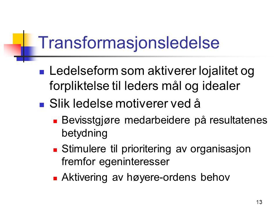 Transformasjonsledelse kritikk