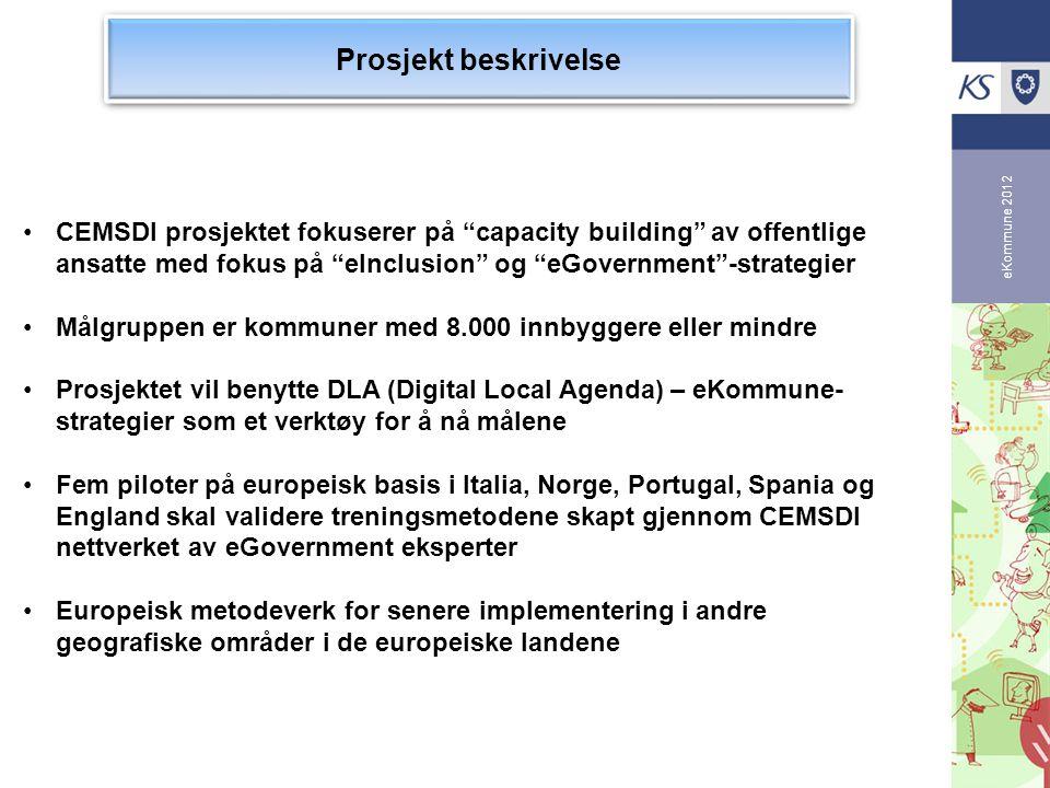 Prosjekt beskrivelse eKommune 2012.