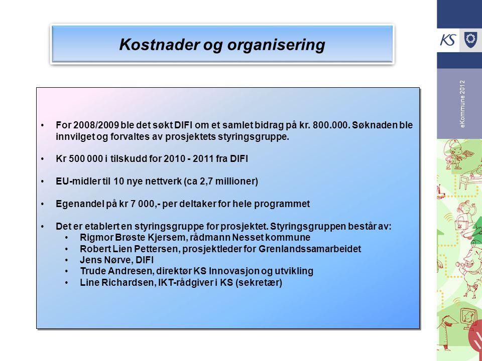 Kostnader og organisering