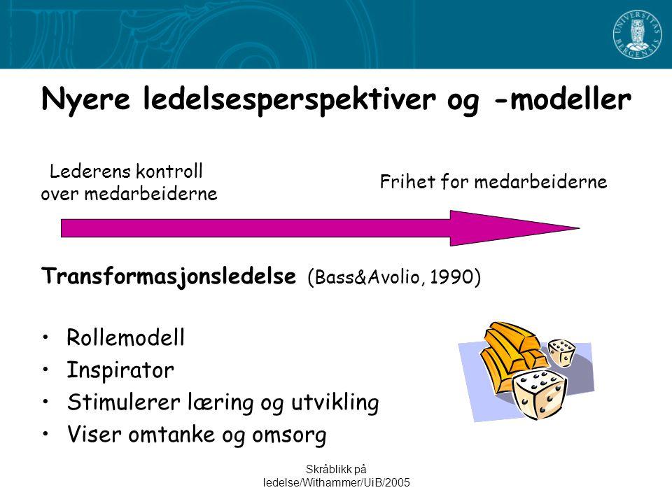 Nyere ledelsesperspektiver og -modeller