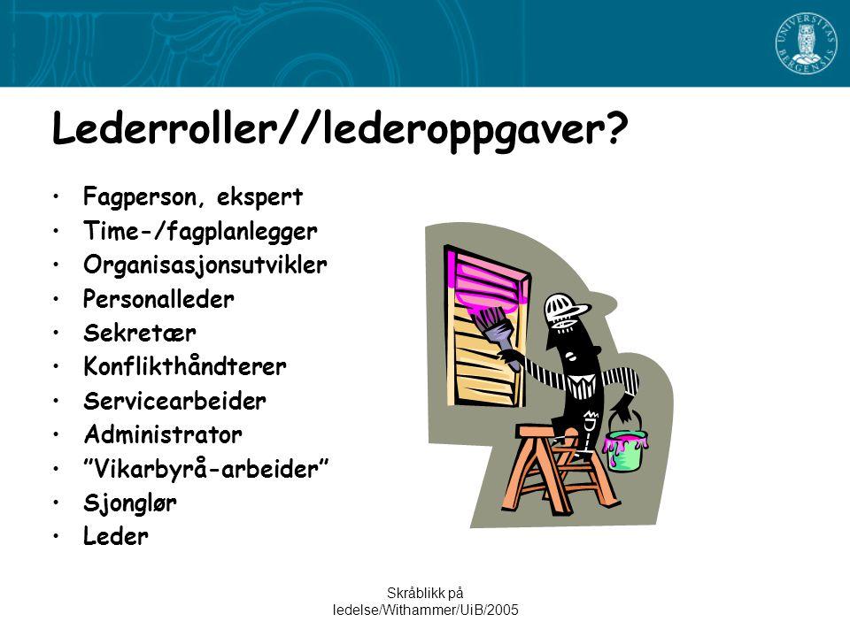 Lederroller//lederoppgaver