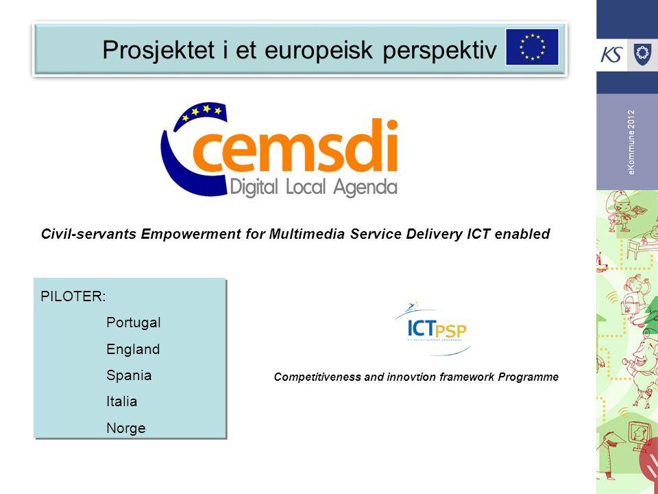 Prosjektet i et europeisk perspektiv