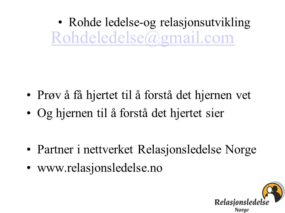 Rohde ledelse-og relasjonsutvikling