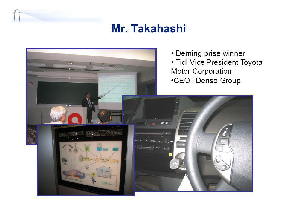 Mr. Takahashi Deming prise winner