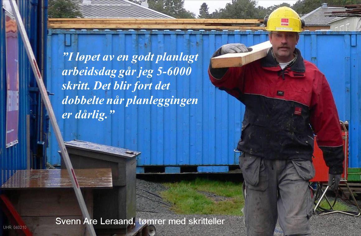 Svenn Are Leraand, tømrer med skritteller
