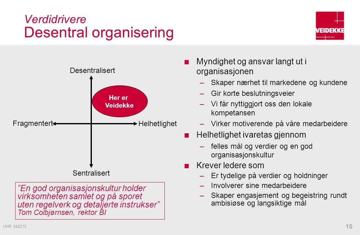 Verdidrivere Desentral organisering