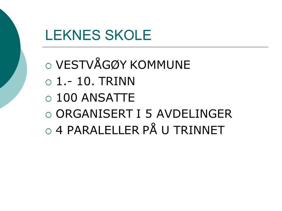 LEKNES SKOLE VESTVÅGØY KOMMUNE 1.- 10. TRINN 100 ANSATTE