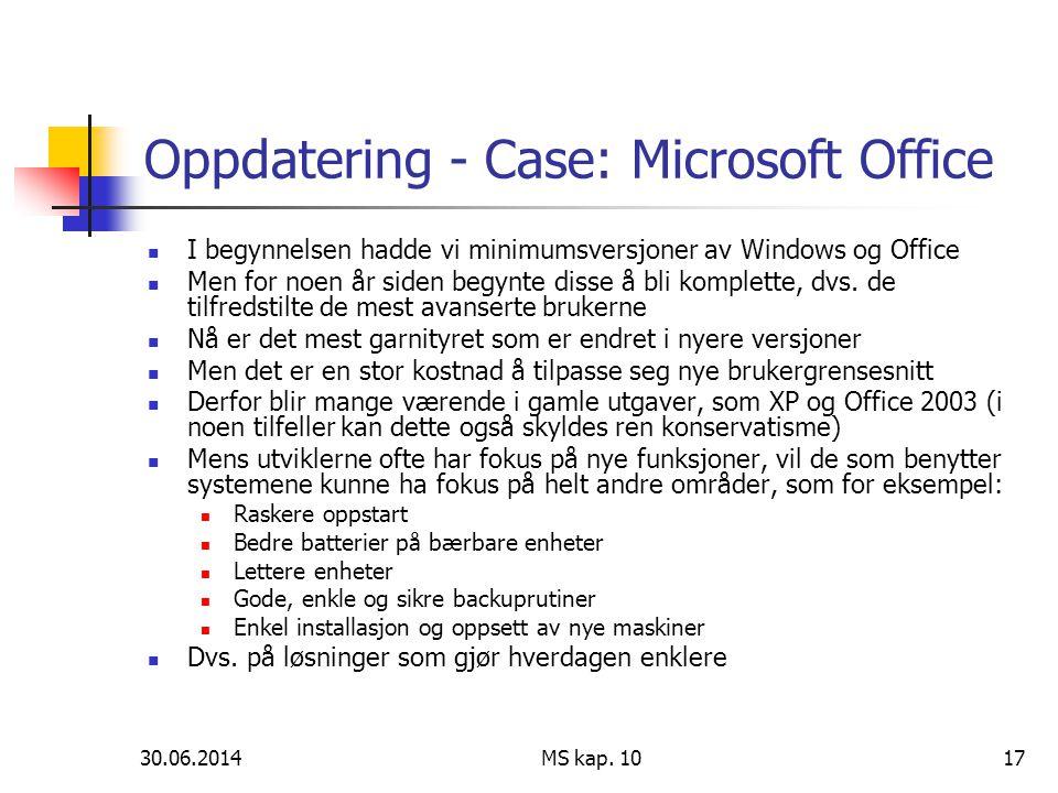 Oppdatering - Case: Microsoft Office