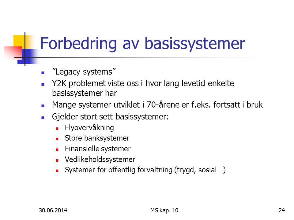 Forbedring av basissystemer
