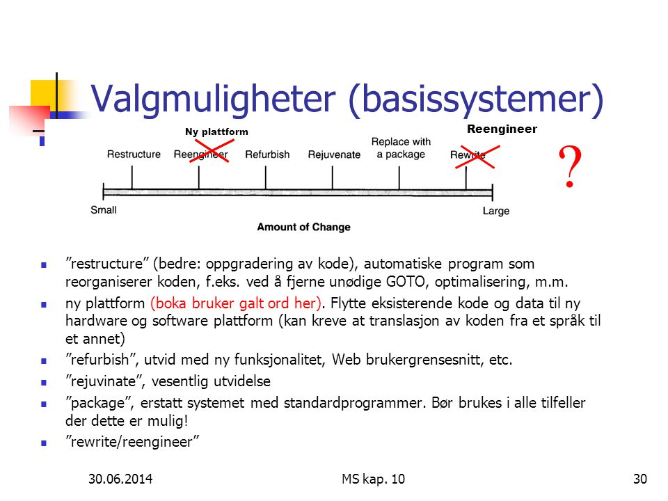 Valgmuligheter (basissystemer)