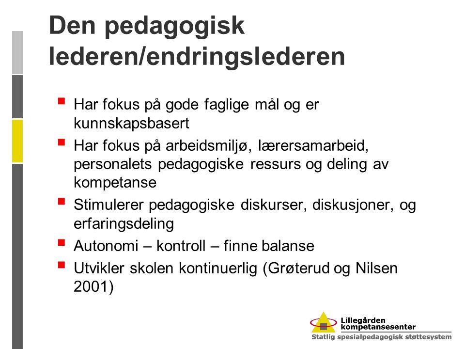Den pedagogisk lederen/endringslederen