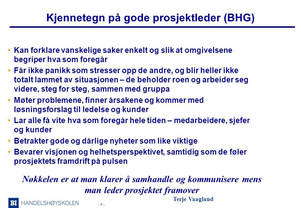 Kjennetegn på gode prosjektleder (BHG)