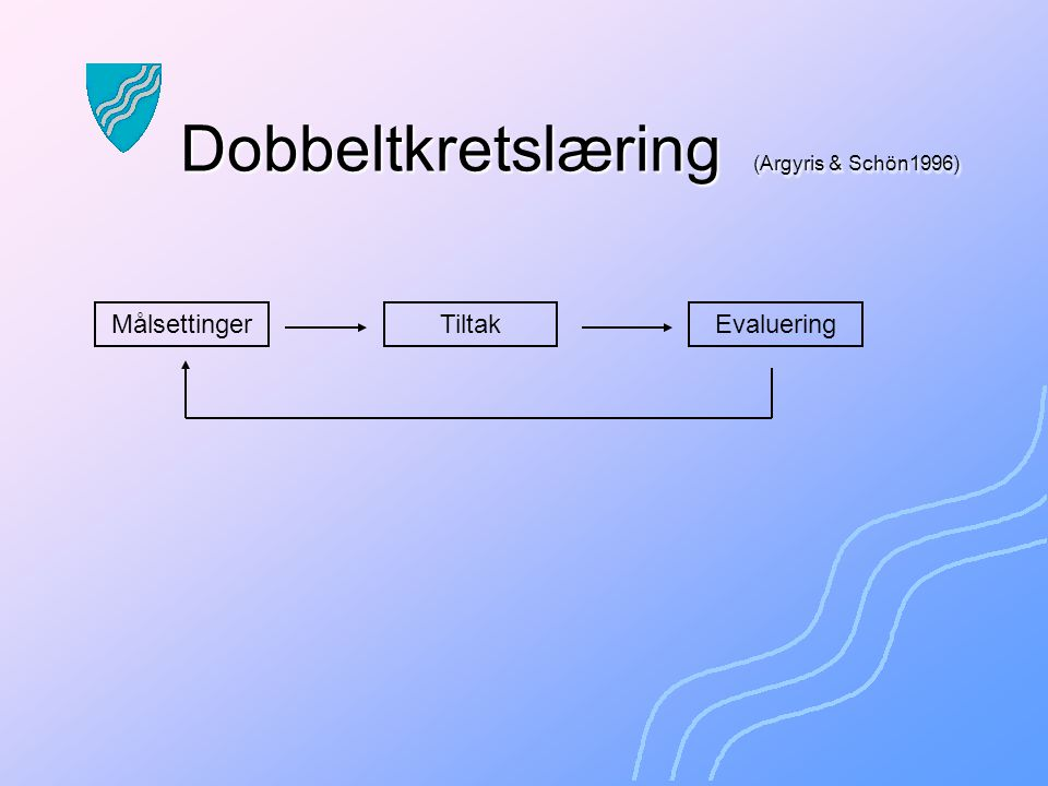 Dobbeltkretslæring (Argyris & Schön1996)