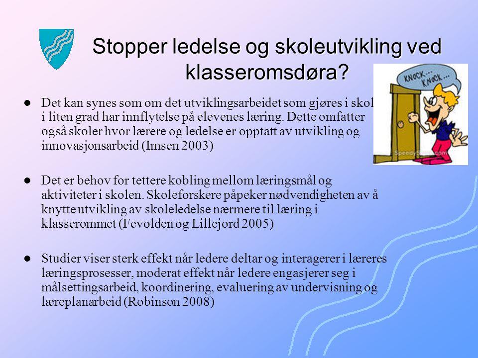 Stopper ledelse og skoleutvikling ved klasseromsdøra