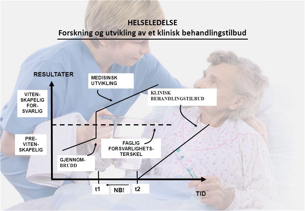 HELSELEDELSE Forskning og utvikling av et klinisk behandlingstilbud