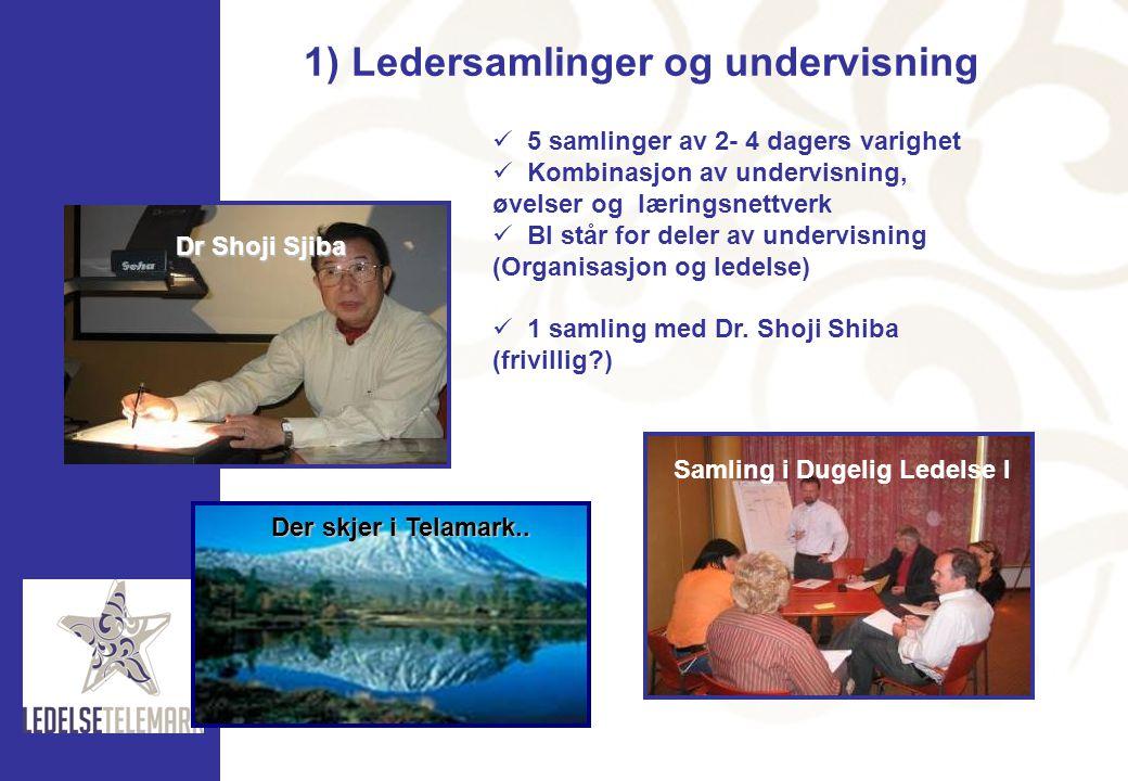 1) Ledersamlinger og undervisning
