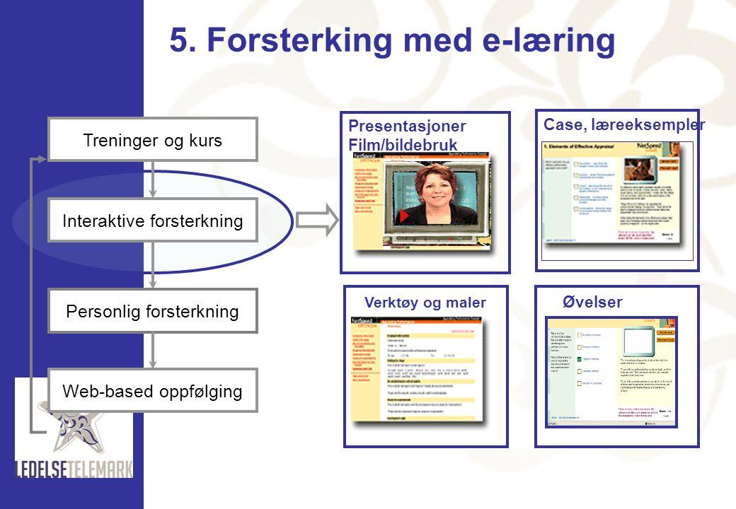 5. Forsterking med e-læring