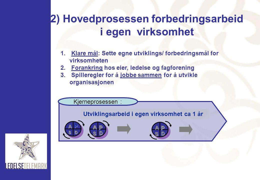 2) Hovedprosessen forbedringsarbeid i egen virksomhet