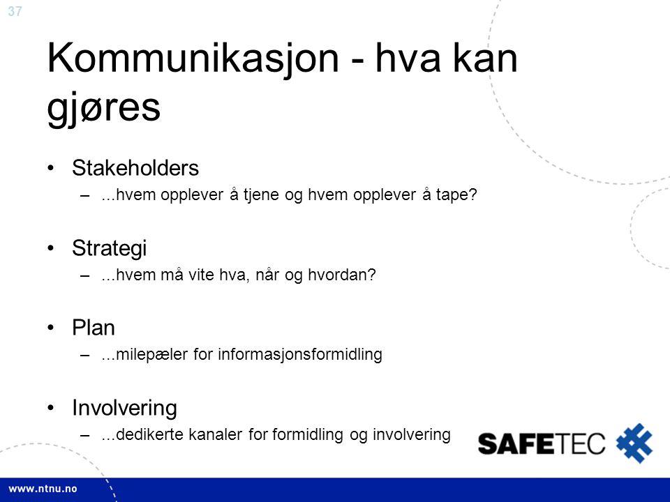 Kommunikasjon - hva kan gjøres