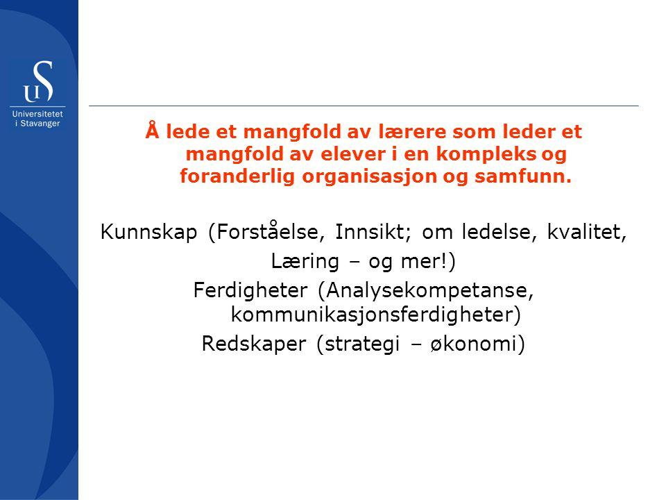 Kunnskap (Forståelse, Innsikt; om ledelse, kvalitet, Læring – og mer!)